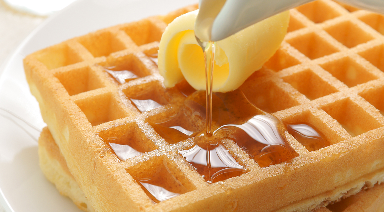 Waffles side dish and serving ideas.