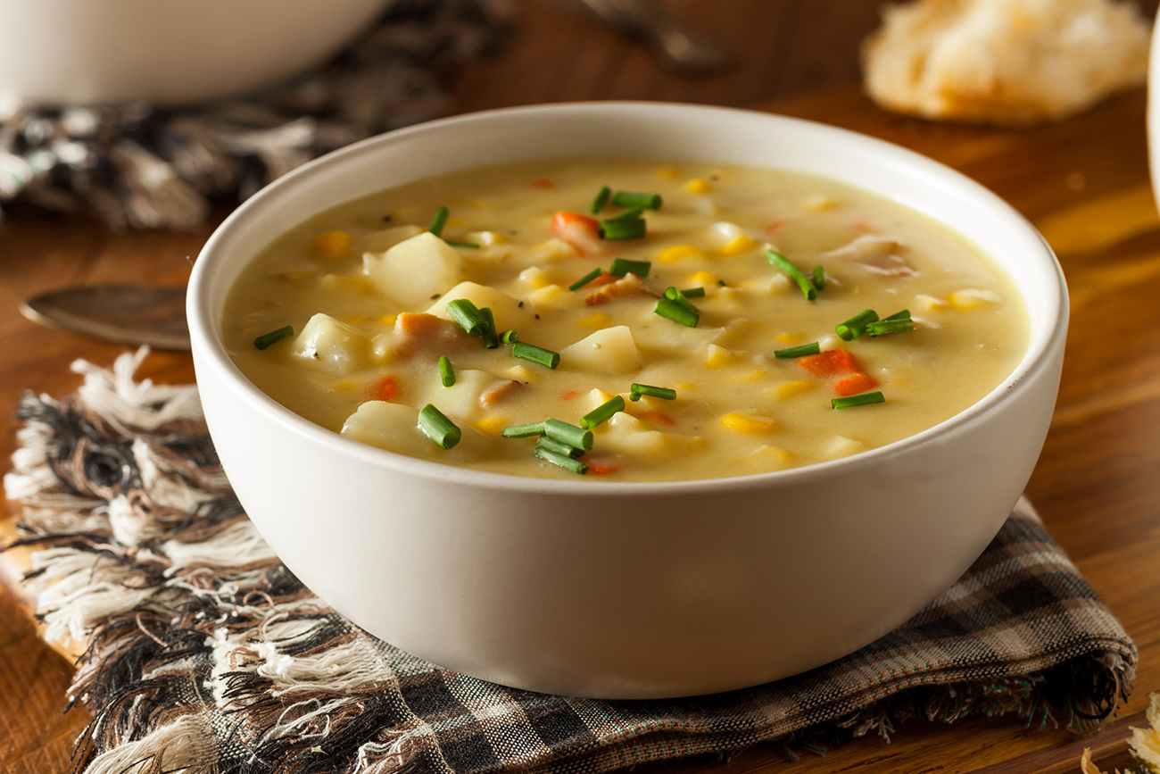 corn chowder side dish and serving ideas