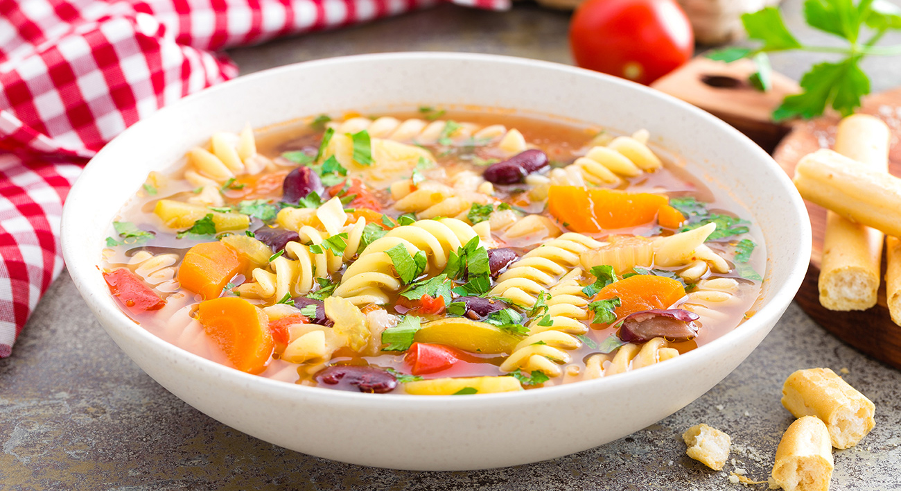 minestrone side dish and serving ideas