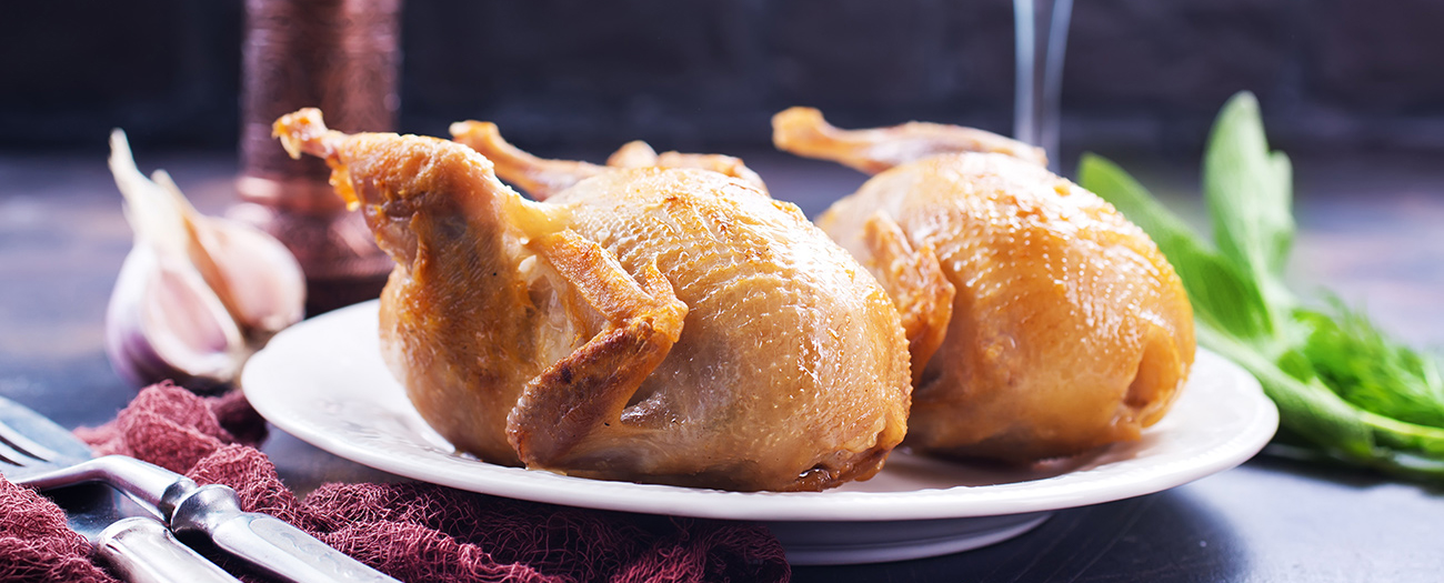Quail side dish and serving ideas